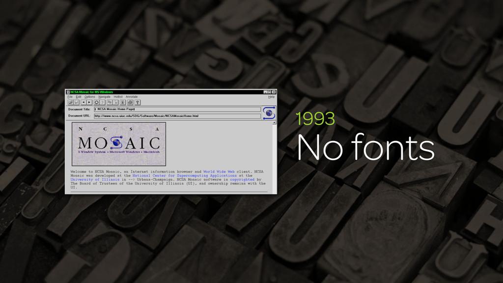 1993 No fonts