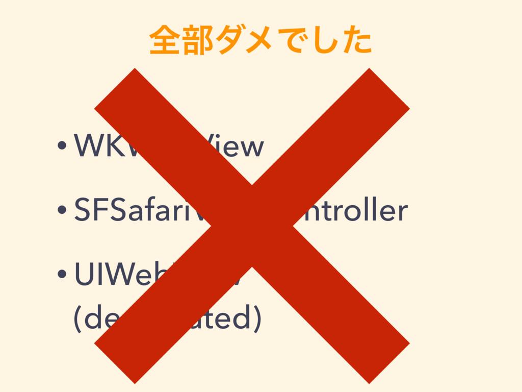 શ෦μϝͰͨ͠ • WKWebView • SFSafariViewController • ...