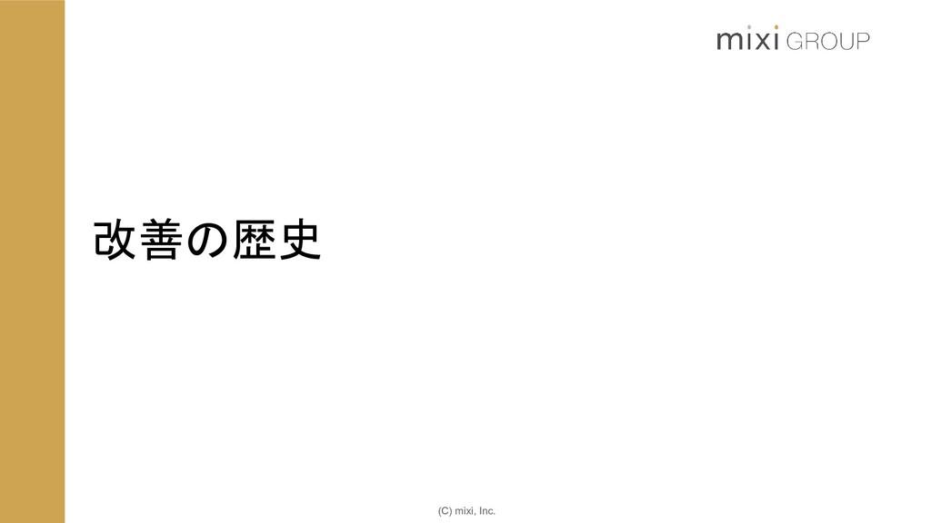 (C) mixi, Inc. 改善の歴史