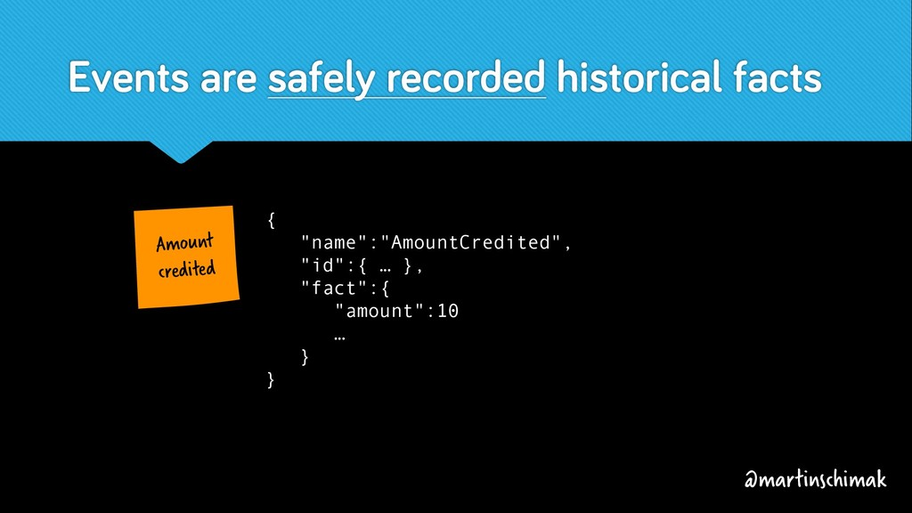 Events are safely recorded historical facts Amo...