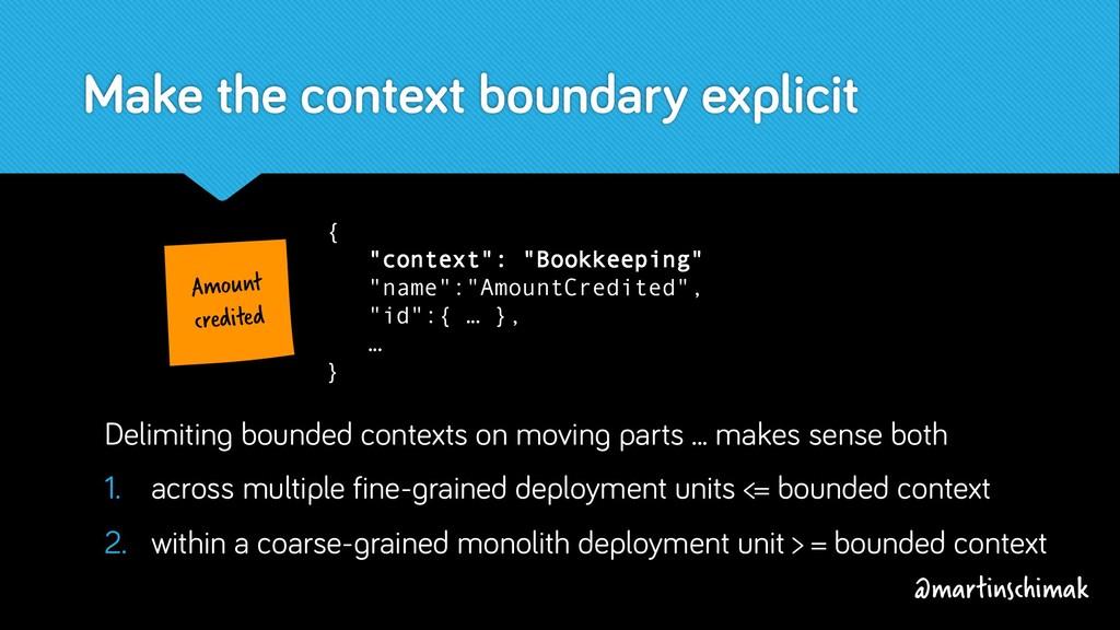 Make the context boundary explicit Amount credi...
