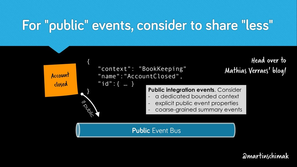 """For """"public"""" events, consider to share """"less"""" @..."""