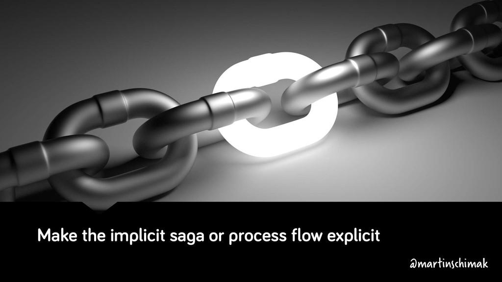 Make the implicit saga or process flow explicit...