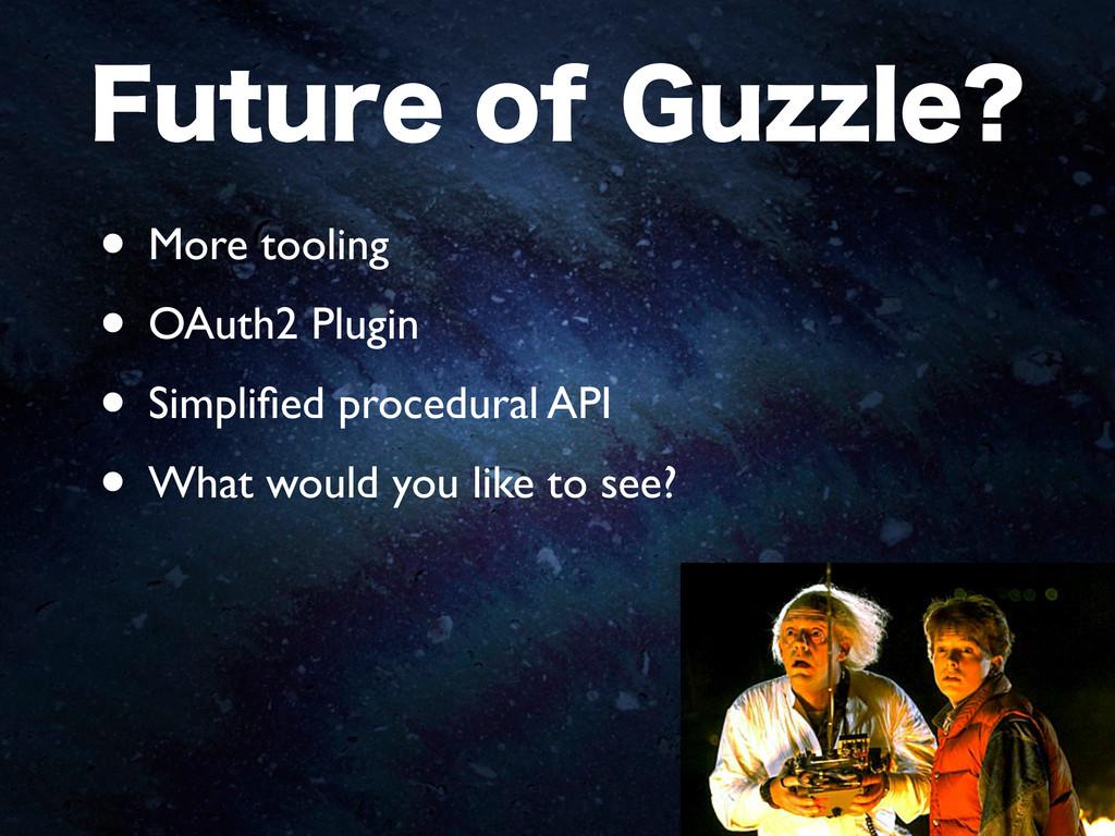 'VUVSFPG(V[[MF • More tooling • OAuth2 Plugin...
