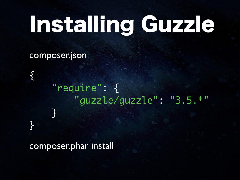 "*OTUBMMJOH(V[[MF { ""require"": { ""guzzle/guzzle..."
