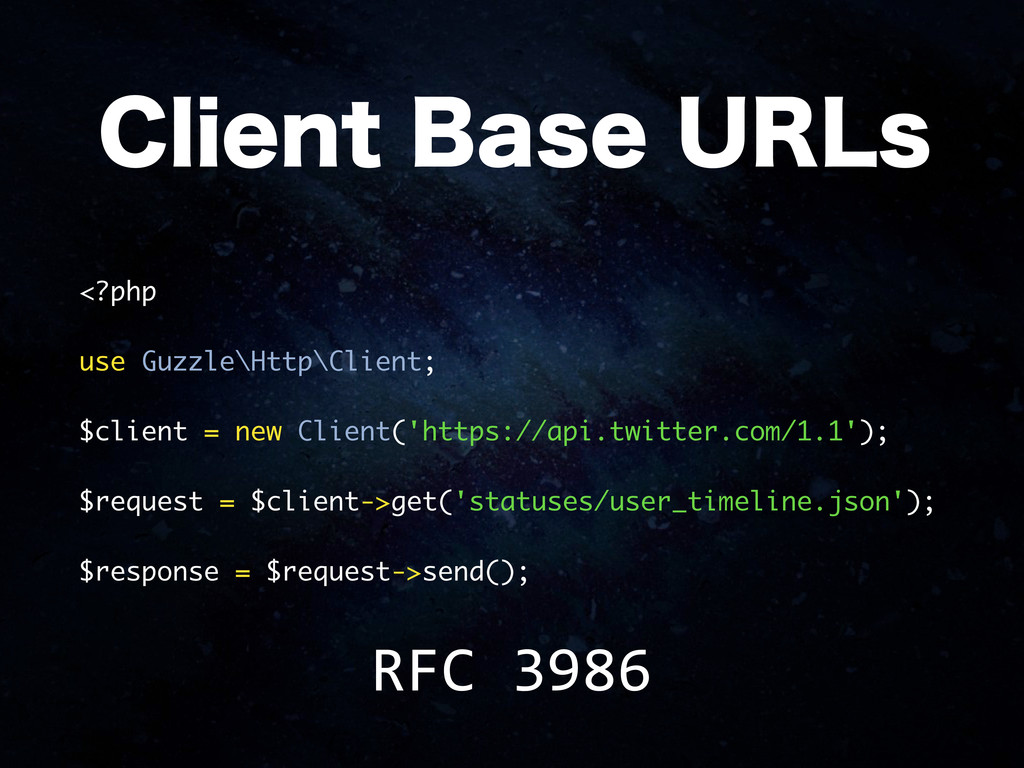 <?php use Guzzle\Http\Client; $client = new Cli...