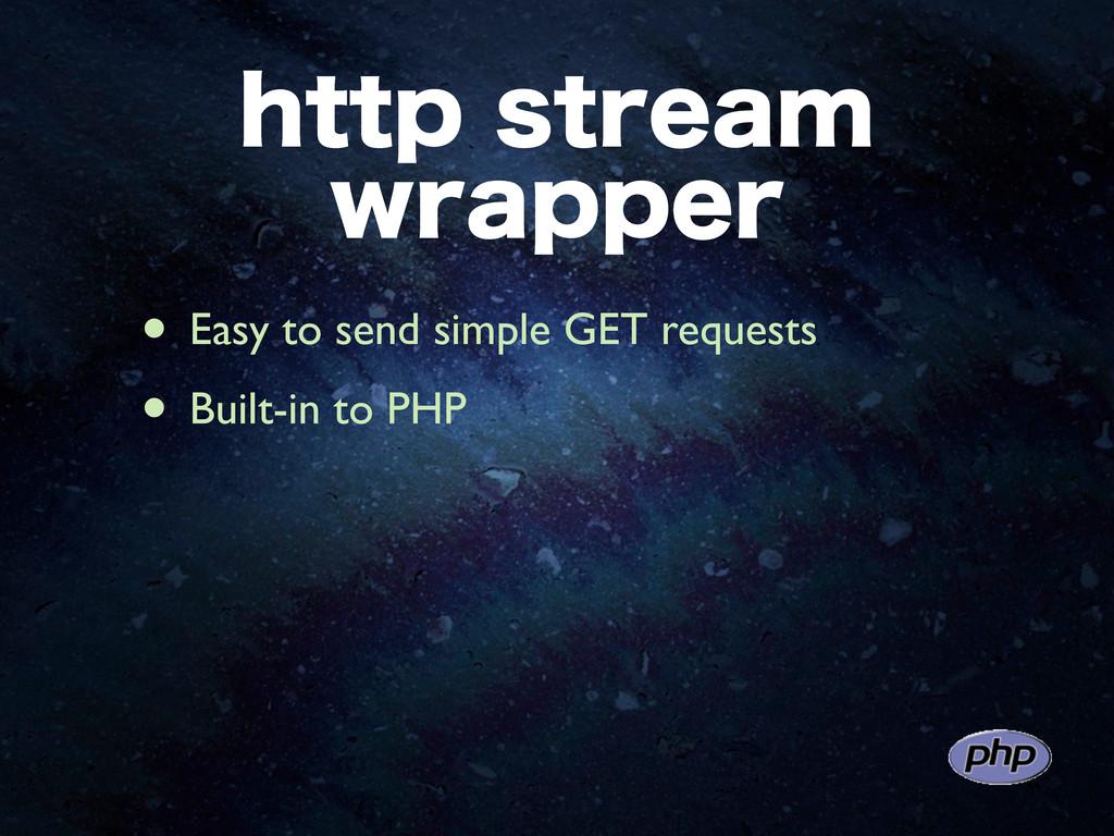 IUUQTUSFBN XSBQQFS • Easy to send simple GET ...