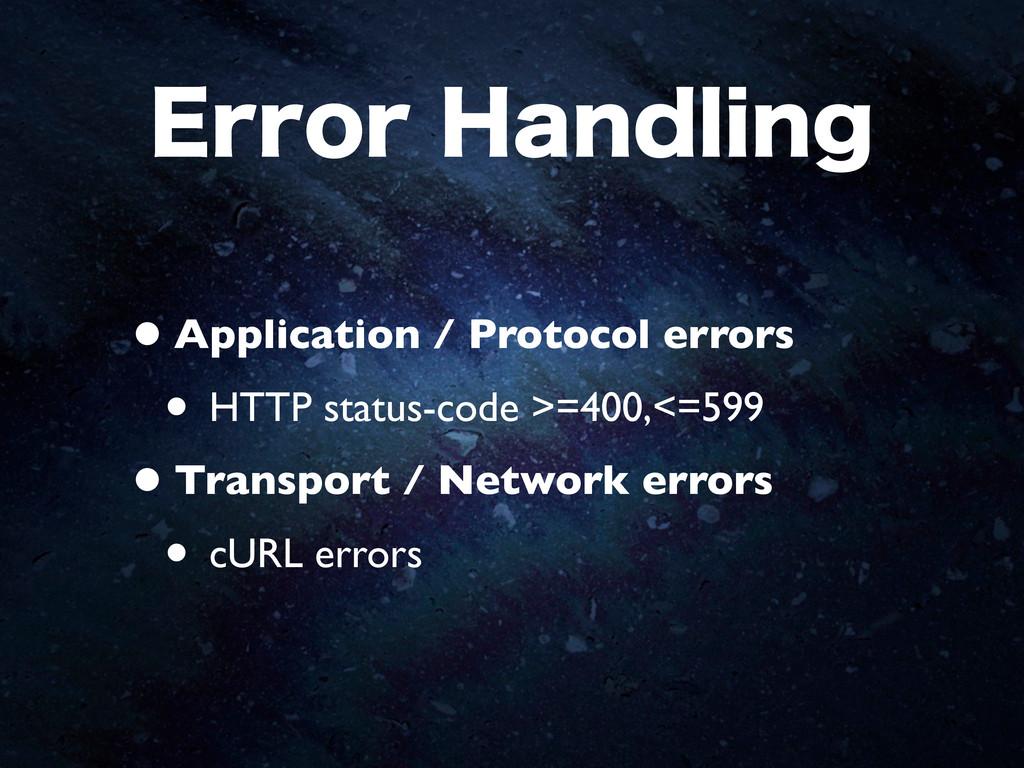 &SSPS)BOEMJOH •Application / Protocol errors •...