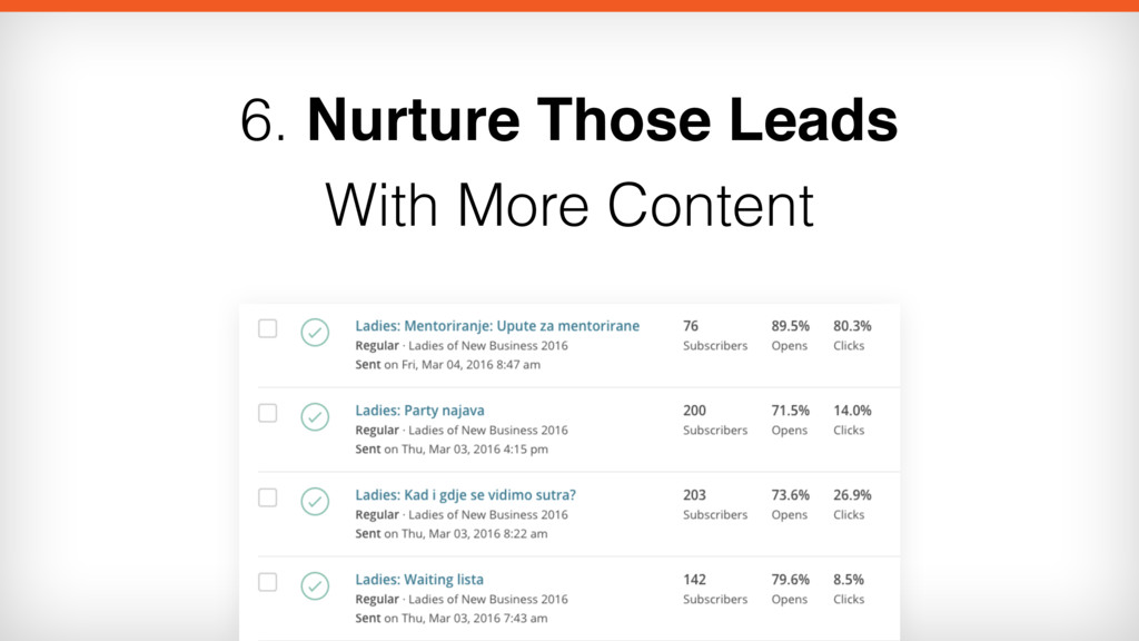 6. Nurture Those Leads  With More Content