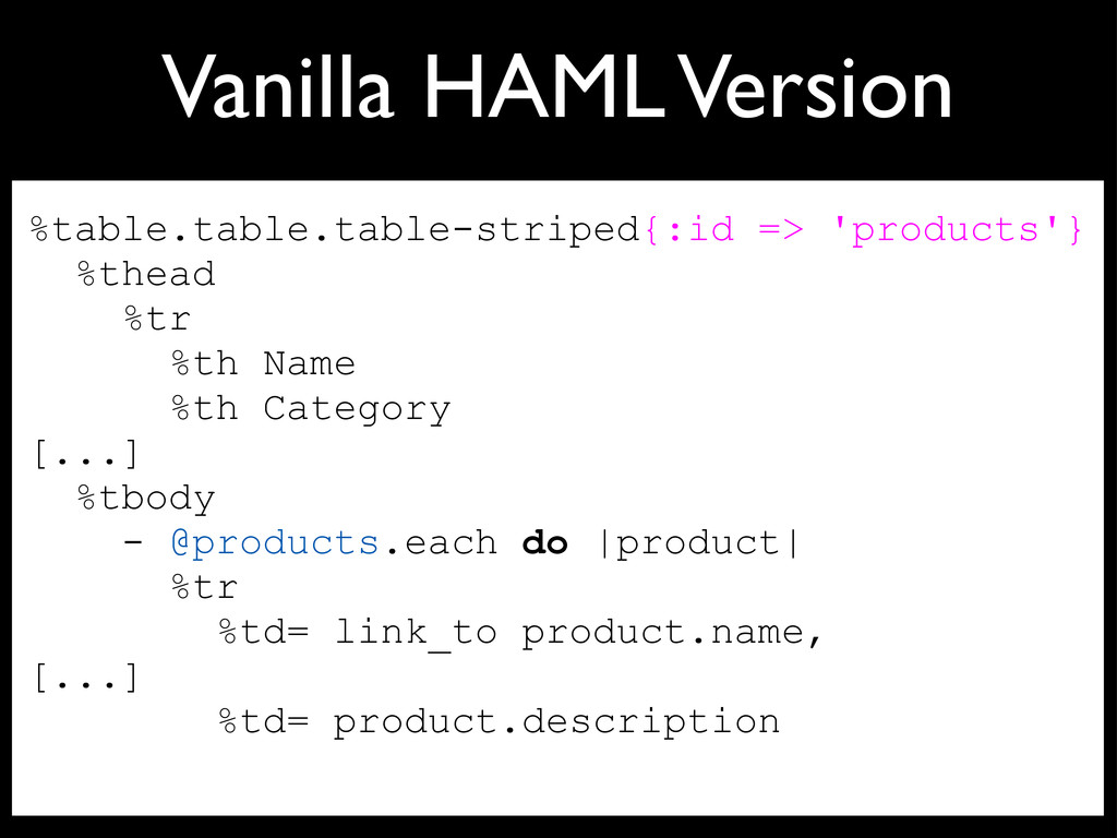 Vanilla HAML Version %table.table.table-striped...