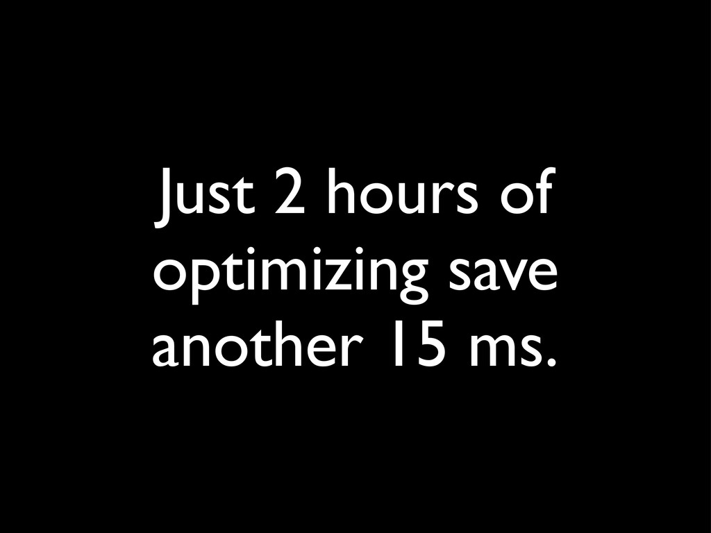 Just 2 hours of optimizing save another 15 ms.