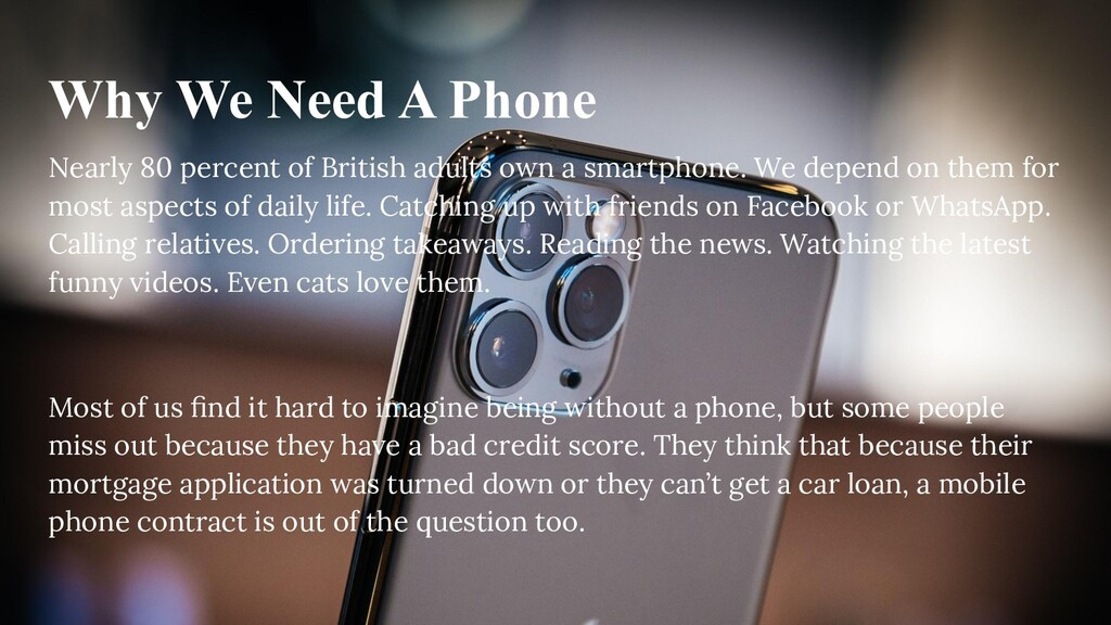 Why We Need A Phone Nearly 80 percent of Britis...
