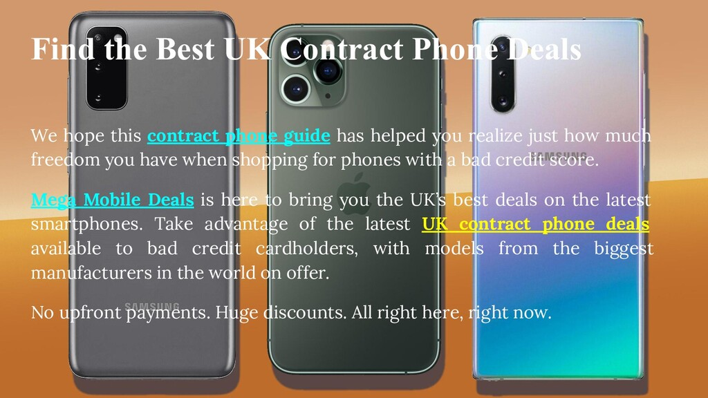 Find the Best UK Contract Phone Deals We hope t...