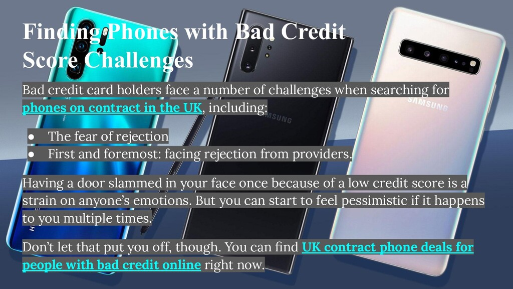 Finding Phones with Bad Credit Score Challenges...