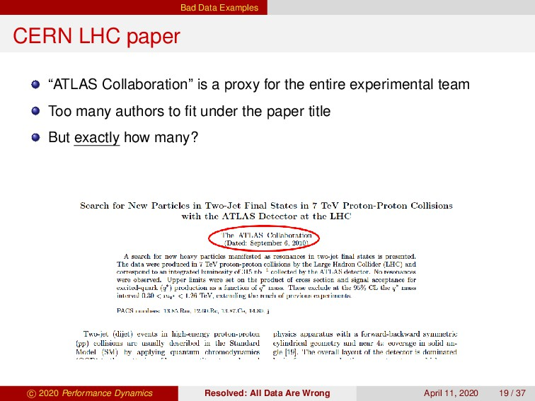 "Bad Data Examples CERN LHC paper ""ATLAS Collabo..."