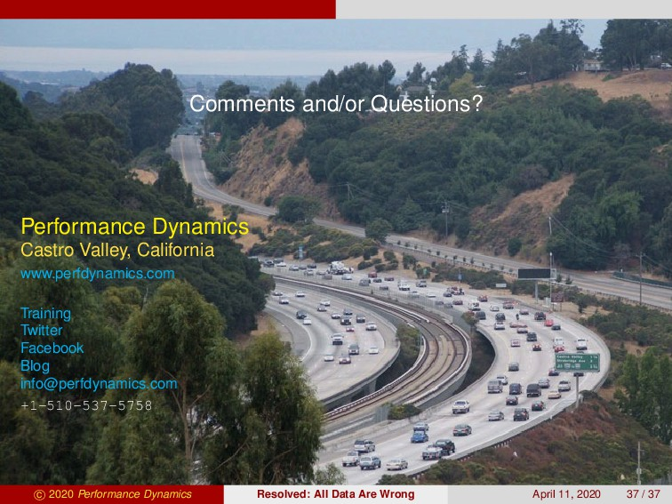 Comments and/or Questions? Performance Dynamics...