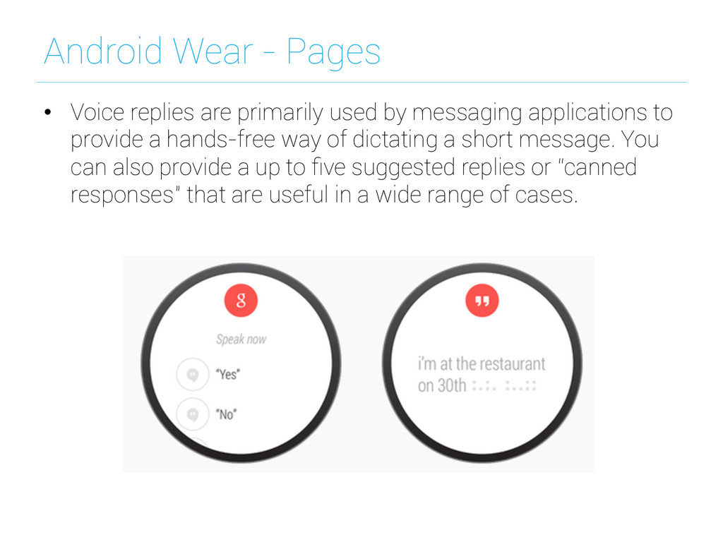 Android Wear - Pages • Voice replies are prima...