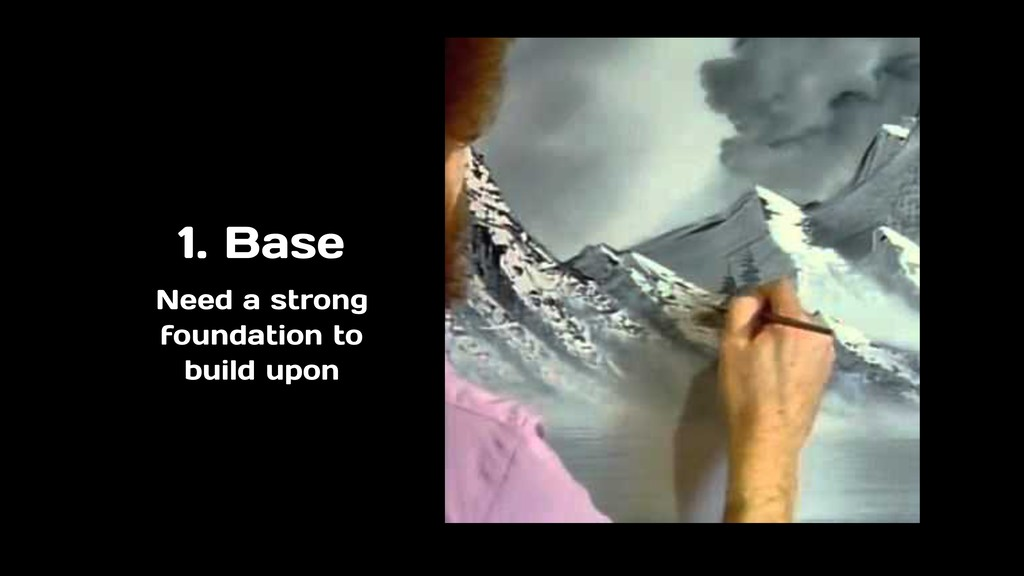 1. Base Need a strong foundation to build upon