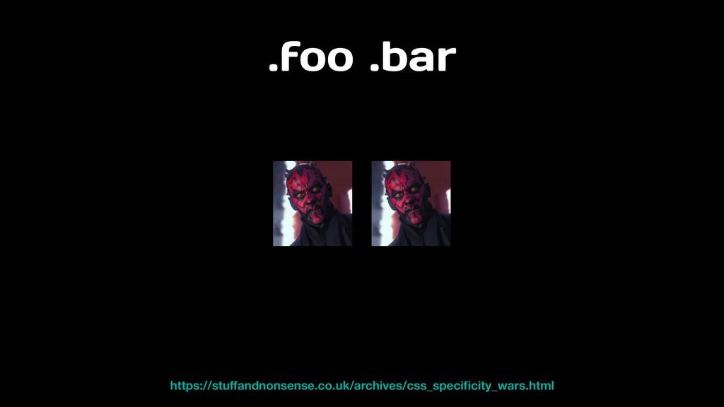 .foo .bar https://stuffandnonsense.co.uk/archive...