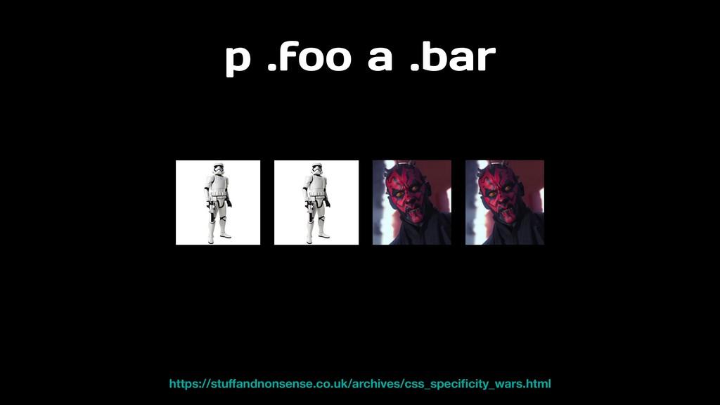 p .foo a .bar https://stuffandnonsense.co.uk/arc...