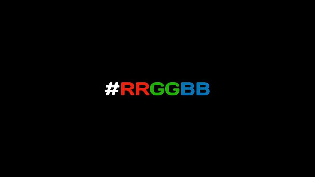 #RRGGBB