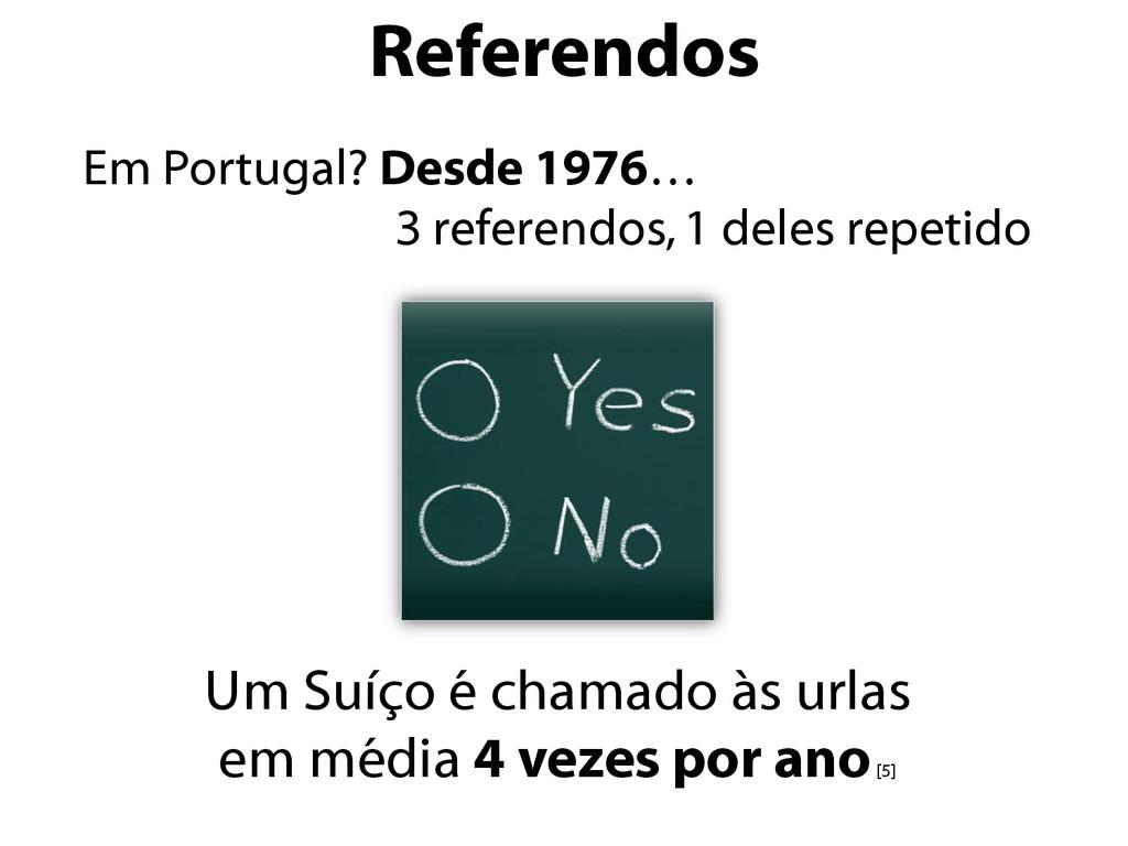 Referendos Em Portugal? Desde 1976… 3 referendo...