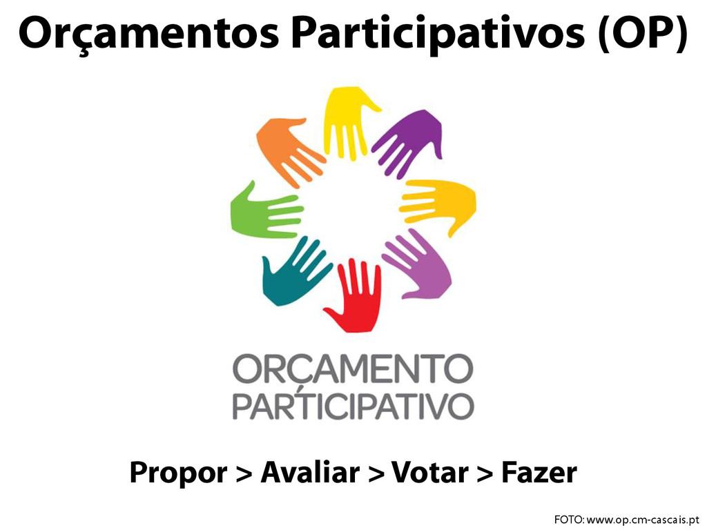 Propor > Avaliar > Votar > Fazer Orçamentos Par...