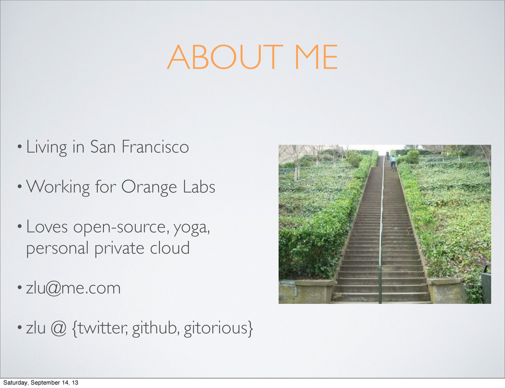 ABOUT ME • Living in San Francisco • Working fo...
