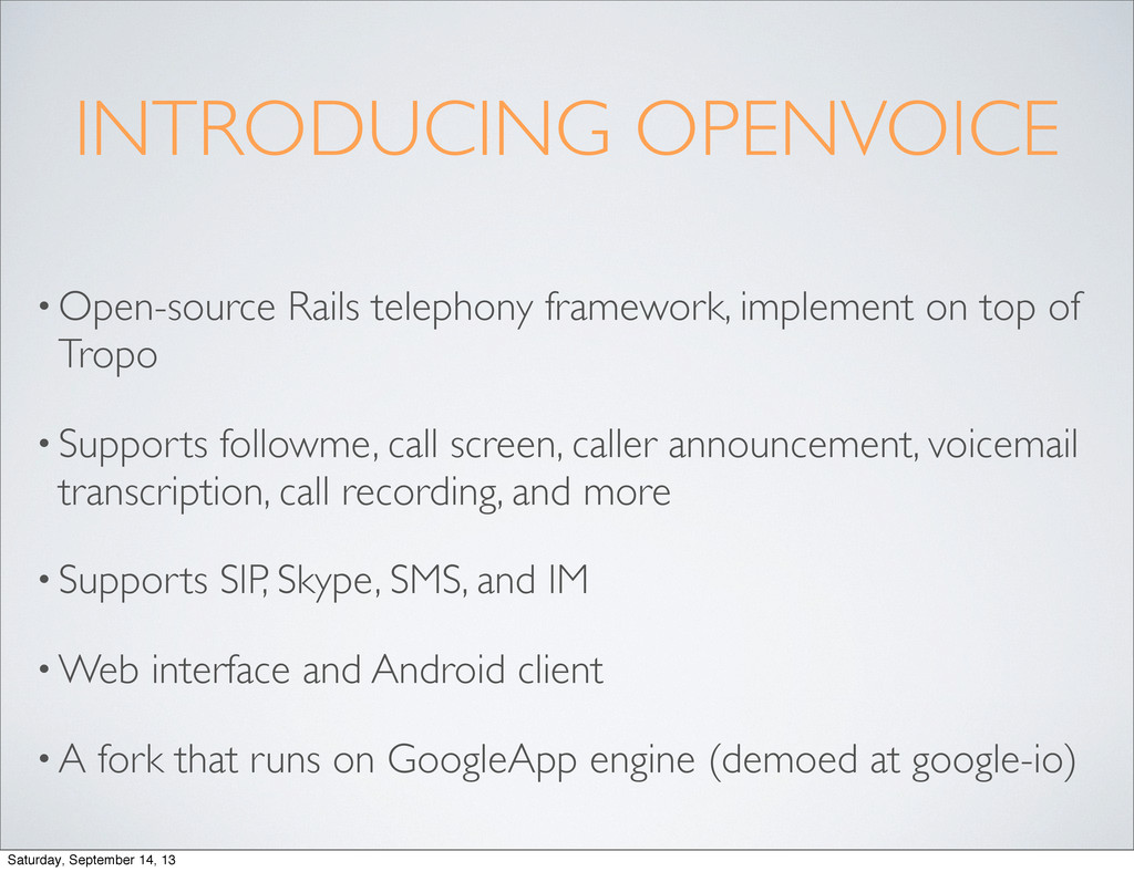 INTRODUCING OPENVOICE • Open-source Rails telep...