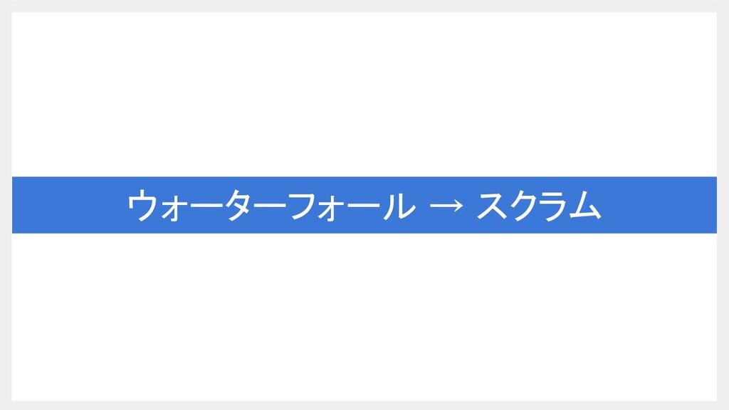 ウォーターフォール → スクラム