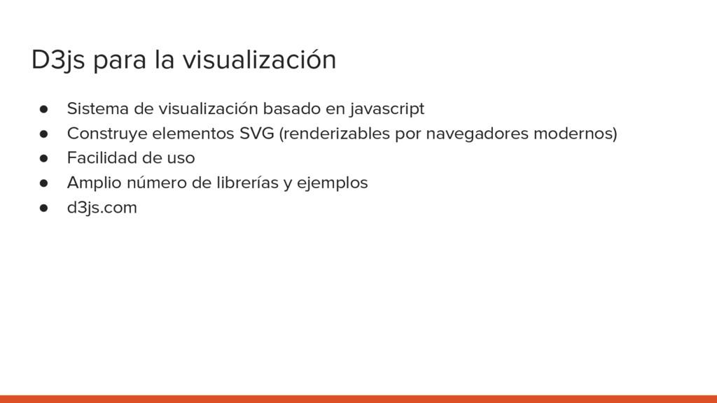 D3js para la visualización ● Sistema de visuali...