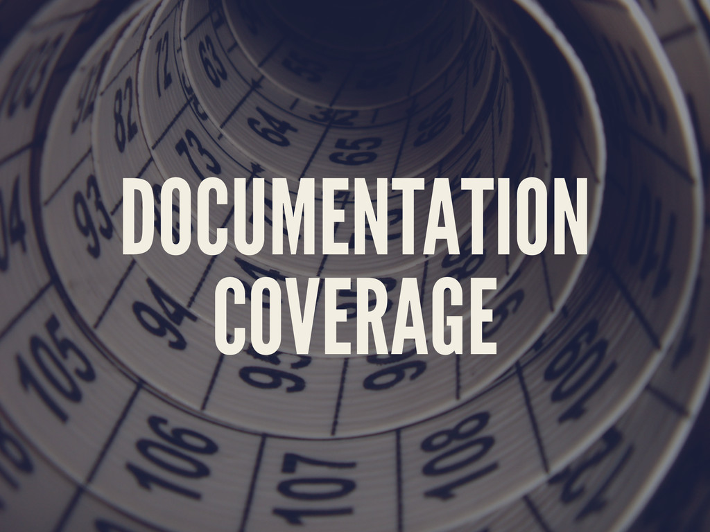 DOCUMENTATION COVERAGE