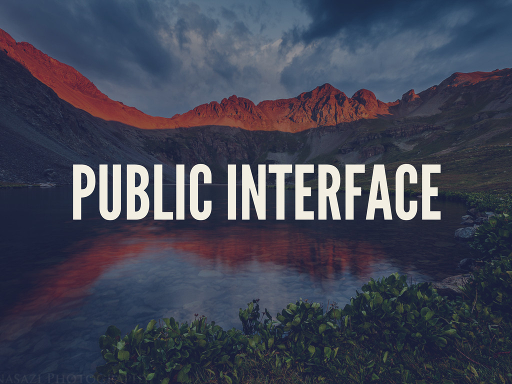 PUBLIC INTERFACE