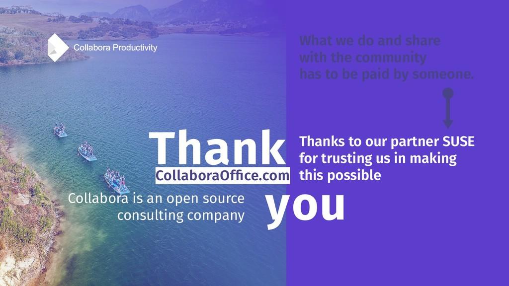 Collabora Productivity Thank you Collabora Prod...