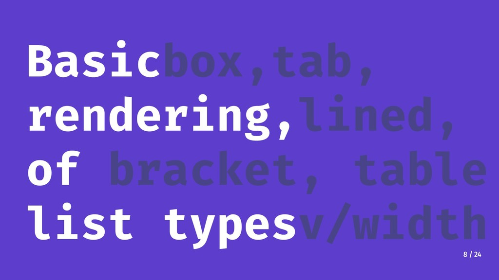 8 / 24 Basicbox,tab, rendering,lined, of bracke...