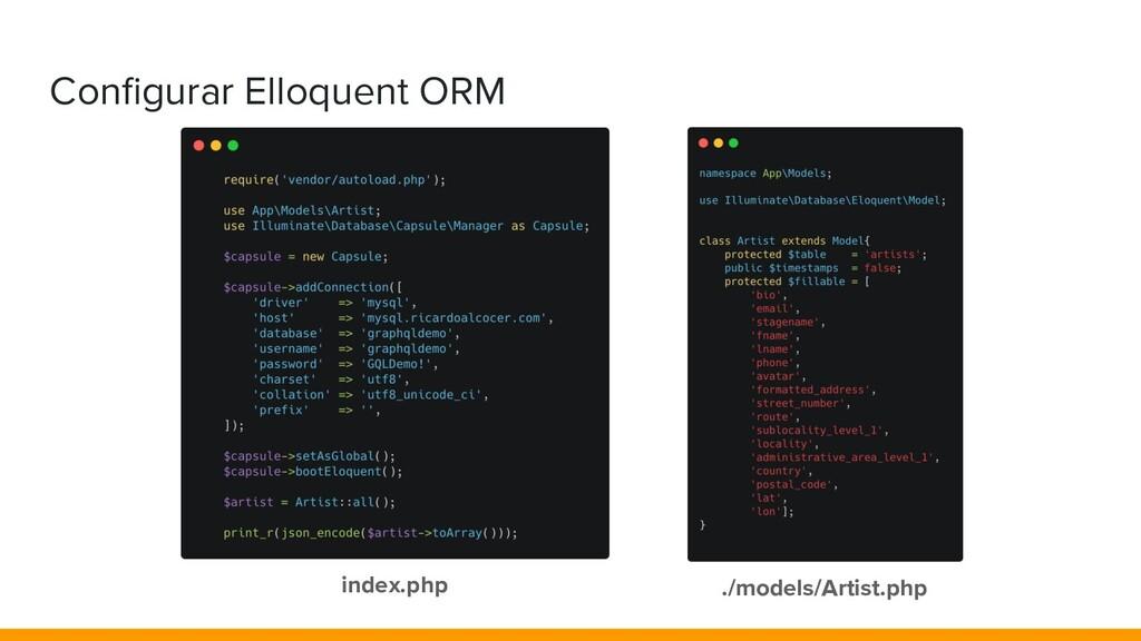 Configurar Elloquent ORM index.php ./models/Arti...