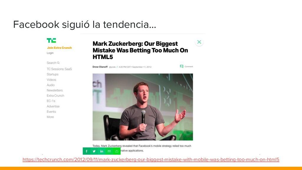 Facebook siguió la tendencia... https://techcru...