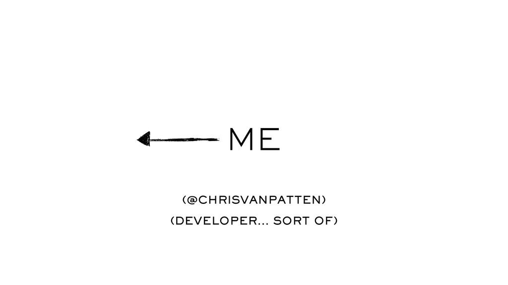 ME (@CHRISVANPATTEN) (DEVELOPER… SORT OF)