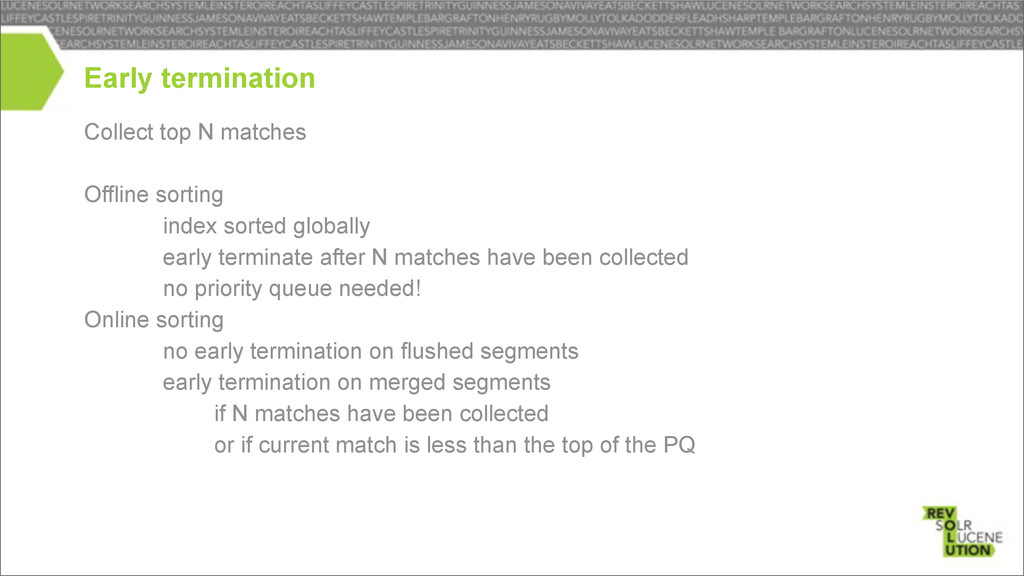 Collect top N matches Offline sorting – index s...