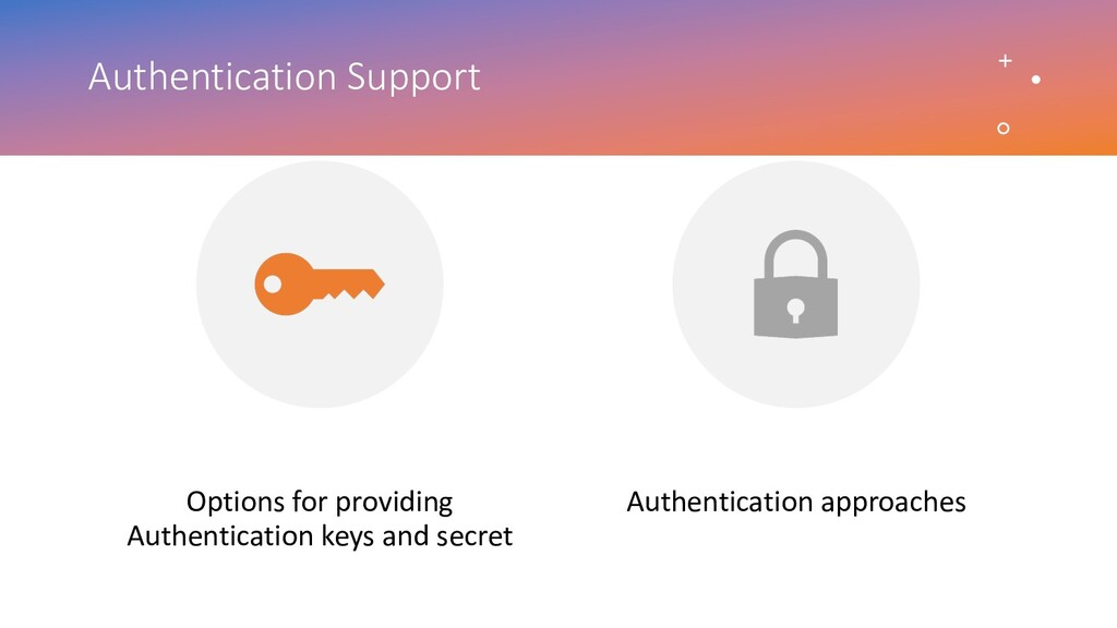 Authentication Support Options for providing Au...