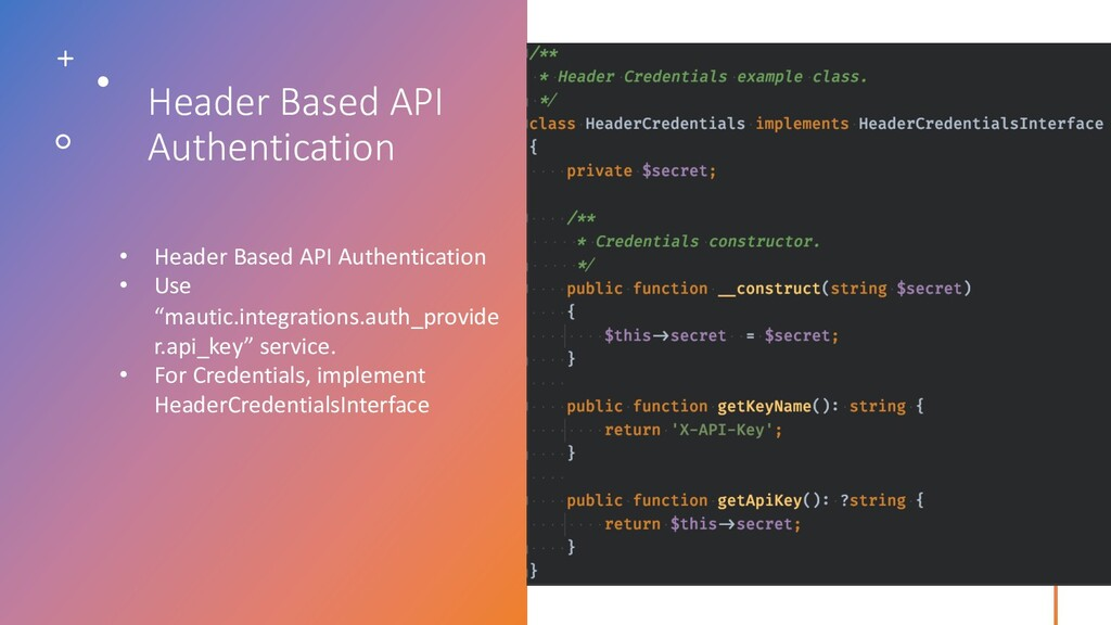 Header Based API Authentication • Header Based ...