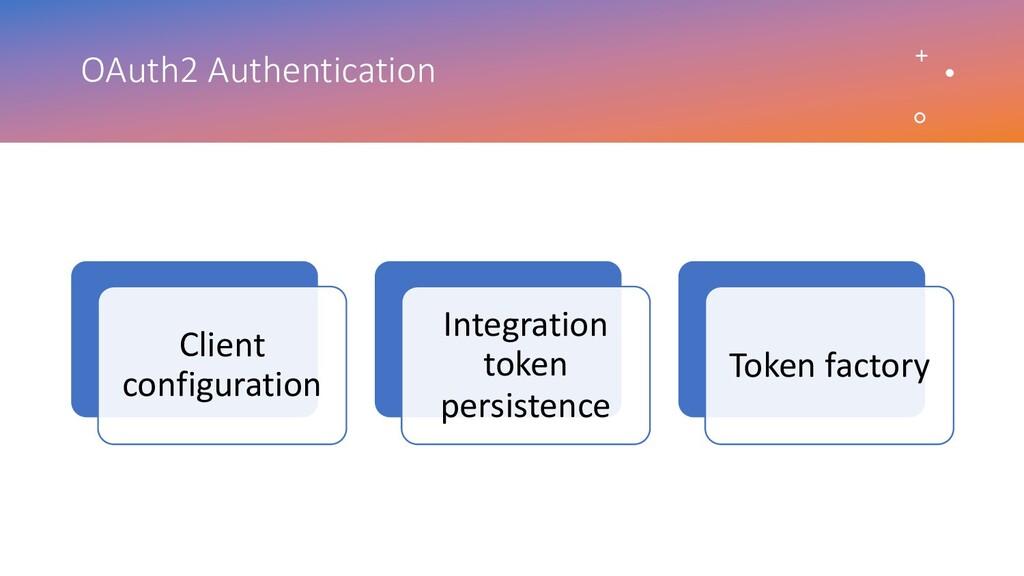 OAuth2 Authentication Client configuration Inte...