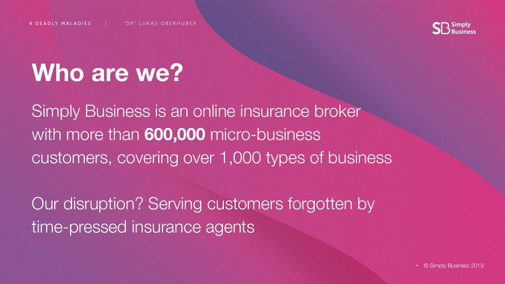 Who are we? Simply Business is an online insura...