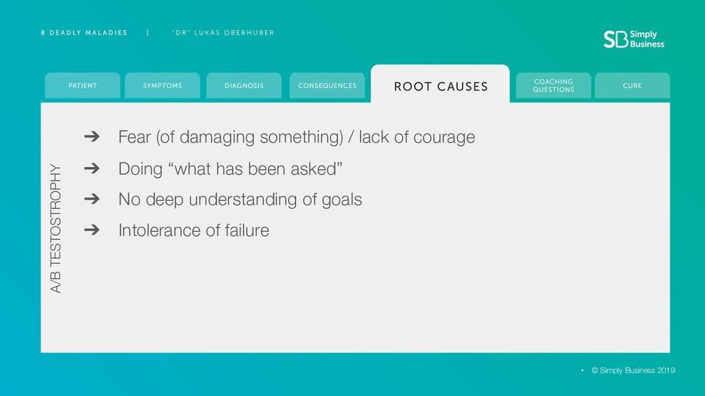 ➔ Fear (of damaging something) / lack of courag...