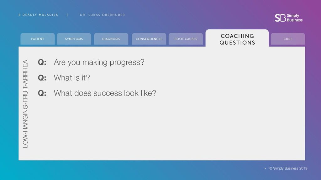 Q: Are you making progress? © Simply Business 2...