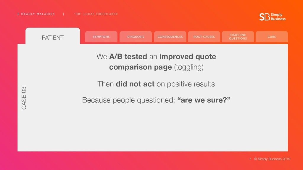 PATIENT We A/B tested an improved quote compari...