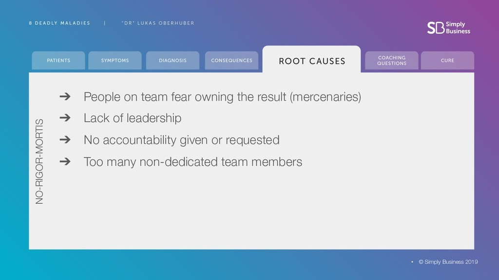 ➔ People on team fear owning the result (mercen...
