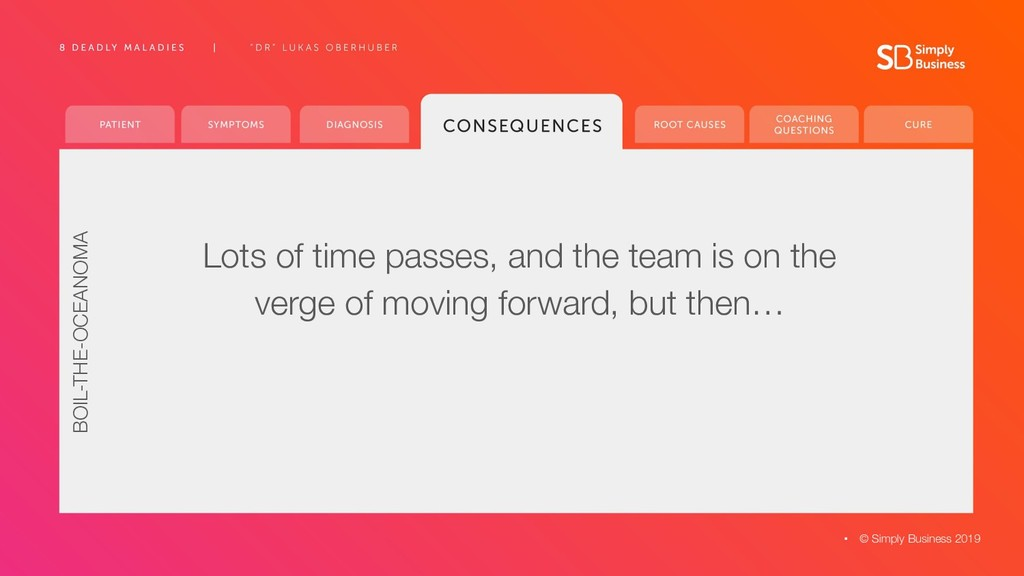 Lots of time passes, and the team is on the ver...