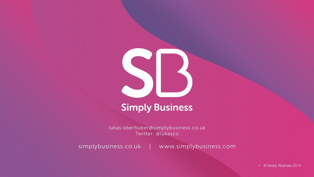 © Simply Business 2019 .