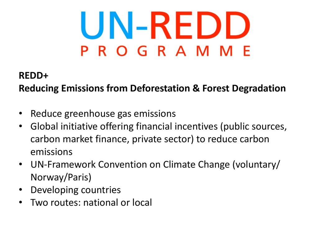 REDD+ Reducing Emissions from Deforestation & F...